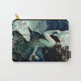 Henry Clive: Mermaid with Pearl dark teal Carry-All Pouch