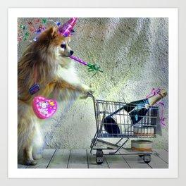 Cute Little Party Animal Art Print
