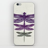 dragonfly iPhone & iPod Skins featuring Dragonfly  by rskinner1122