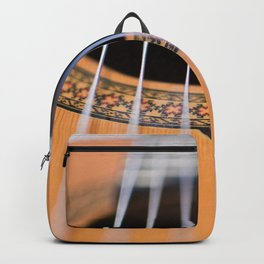 Strings of the guitar above the rose window Backpack