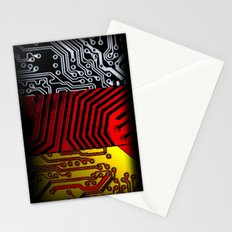 circuit board germany (Flag) Stationery Cards