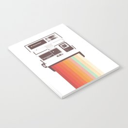Instant Camera Rainbow Notebook