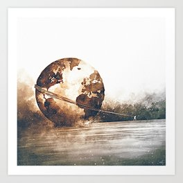 Burden Carrier Art Print