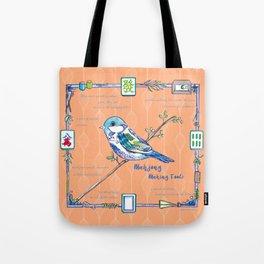 Sparrow Mahjong in Orange Tote Bag