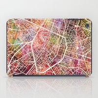 brussels iPad Cases featuring Brussels by MapMapMaps.Watercolors