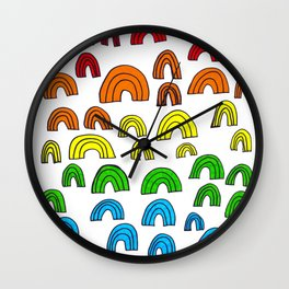 Rainbow Meta Wall Clock