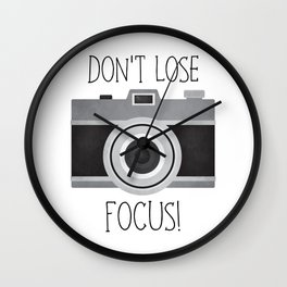 Don't Lose Focus! Wall Clock