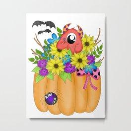 Fall Monster Bouquet Metal Print