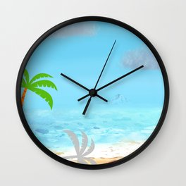 Tropical Island in the summer time Wall Clock