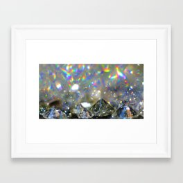 Rainbow Diamonds Framed Art Print