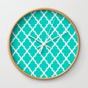 Aqua Moroccan Quatrefoil Pattern by jsdavies