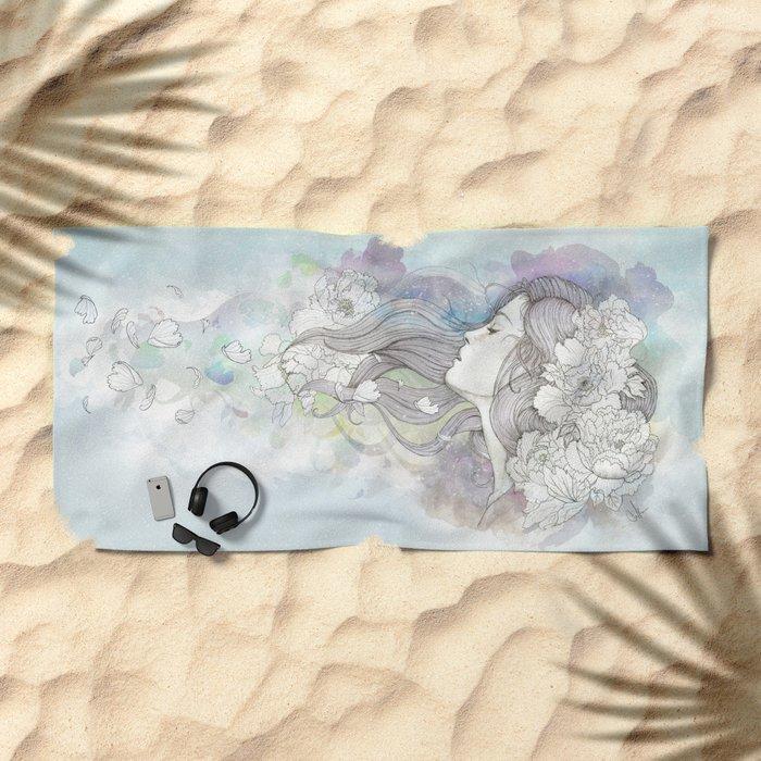 Le Vent  Beach Towel