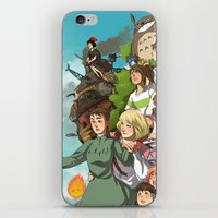 ghibli iPhone & iPod Skins featuring Ghibli by DustyLeaves