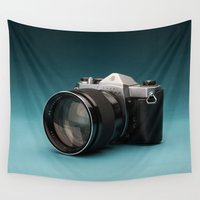 camera Wall Tapestries featuring Camera by Ryan Zimmermann