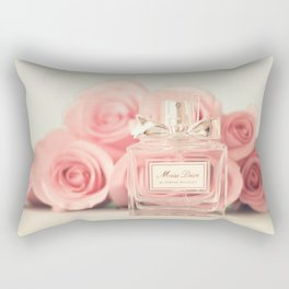 Delicious perfume still life with roses Rectangular Pillow