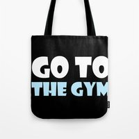 gym Tote Bags featuring GYM GYM by ItsFahmi