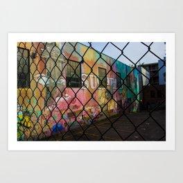 Chain Link Graffiti Art Print