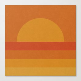 Retro Geometric Sunset Canvas Print