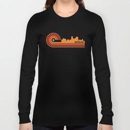 Retro New Orleans Louisiana Skyline Long Sleeve T-shirt