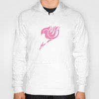 fairy tail Hoodies featuring Fairy Tail Segmented Logo Lucy by JoshBeck