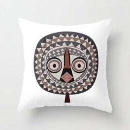 African Tribal Mask No. 2 Throw Pillow