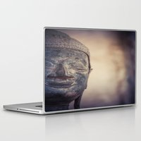 buddhism Laptop & iPad Skins featuring Buddha in Haw Phra Kaew, Laos by Maria Heyens