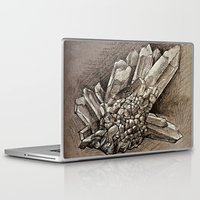 crystals Laptop & iPad Skins featuring Crystals by Werk of Art