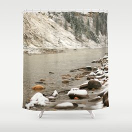 Snow Dusting Shower Curtain