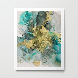 Golden Sea Metal Print