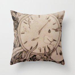 Clock's Slay Time  Throw Pillow
