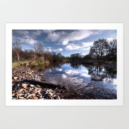The River Culm at Five Fords Art Print