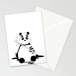Bamboo lover little bear Stationery Cards