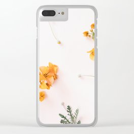 Bougainvillea Blooms Clear iPhone Case