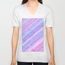 Re-Created  Croix I by Robert S. Lee Unisex V-Neck