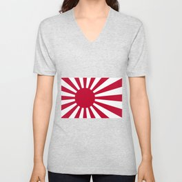 Japanese Flag Unisex V-Neck