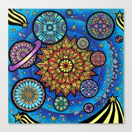 Solar System Mandalas Canvas Print