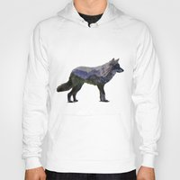 gray Hoodies featuring The Rocky Mountain Gray Wolf by Davies Babies