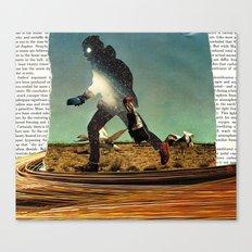 Primitive Mars Runner Canvas Print