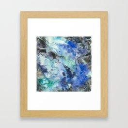 Blue Opal Framed Art Print