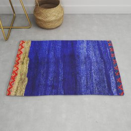 V24 New Blue Calm Traditional Moroccan Carpet Texture. Rug