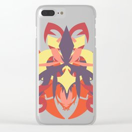 Abstraction Thirteen Titan Clear iPhone Case