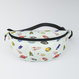 Rockets and planets space print Fanny Pack