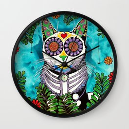 Smudge, the Cat Wall Clock
