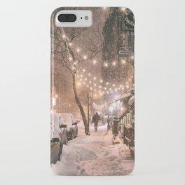 Snow - New York City - East Village iPhone Case
