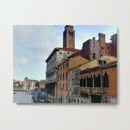 Italy in a view: A Spring Day In Venice Metal Print