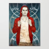 stiles Canvas Prints featuring Stiles demon by Sudjino