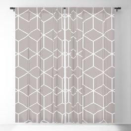 Cube Geometric 03 Grey Blackout Curtain