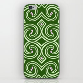 Svortices (Green) iPhone Skin