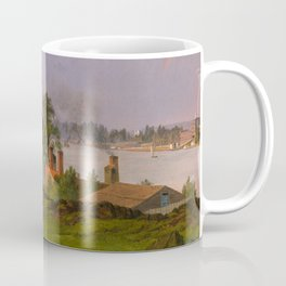 "Frederic Church ""View of Blackwell's Island. New York. Youle's Shot Tower East River New York"" Coffee Mug"