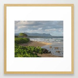 Twilight in Kauai, Hawaii Framed Art Print